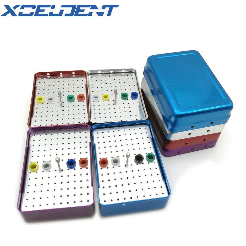 1 Pcs Dental Bur Holder Block 120 Holes Sterilizer Case Autoclave Disinfection Box Dentistry Instrument