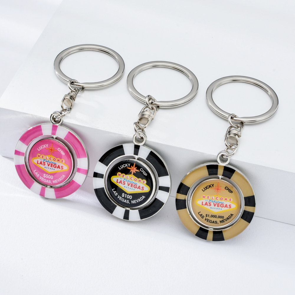 Vicney New Style Las Vegas Casino Chips Keychain For Women Pink Lucky Chip Keychain Men Value Of 1000000 Best Promo 6b8f Cicig