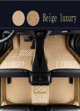 الحصير سيارة مع شعار/شعار العلامة التجارية لمرسيدس بنز S الفئة W220 S280 S320 S350 S500 S600 L سيارة التصميم السجاد بطانات السجاد (19