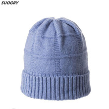SUOGRY Woman Winter Woolen Hats Raccoon Fur Pom Stripe 2019 Autumn Women Knitted Hat Female Skullies Beanies