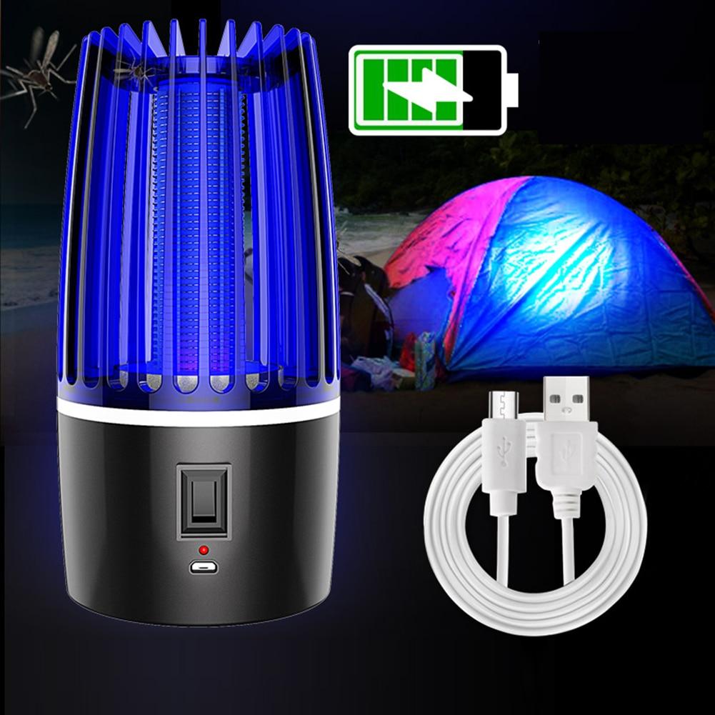 Eléctrica de atrapar la luz Bug Zapper fotocatálisis mudo de la casa repelente Mosquito asesino lámpara Zapper Anti polilla al aire 2