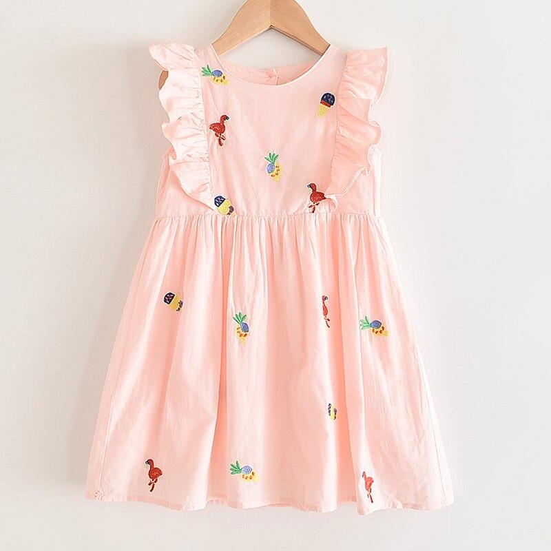 Menoea Girls Animals Dress Costume 2020 Children Pattern Dress Cute Summer Sleeveless Clothes Children Vestidos
