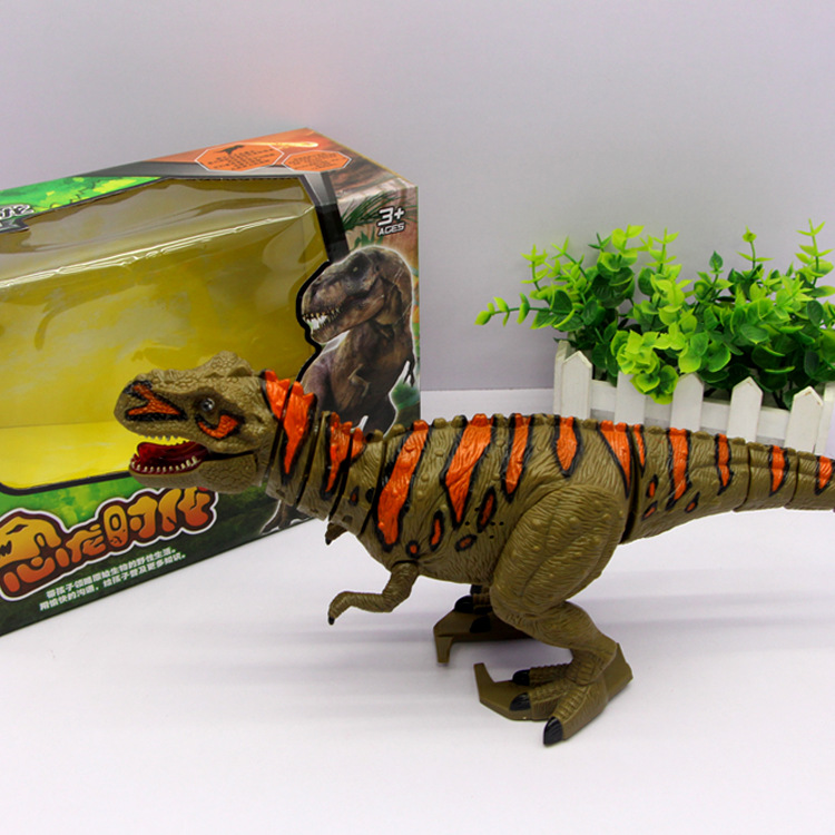 Hot Sales 1061 Children'S Educational Electric Dinosaur Era T-Rex With Voice Lights Will Walking Hot Selling Toy
