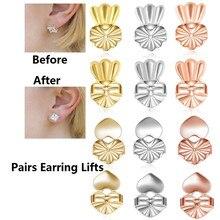 Moda 14 estilos hypoallergenic brinco levantador se encaixa todos os earlobe parafuso prisioneiro de volta porca elevador pós brincos para mulher