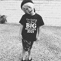 Лидер продаж, футболка с короткими рукавами для маленьких мальчиков, футболка с надписью «I'm Got To Be A Big Brother 2021», топы, одежда, белая Повседневн...