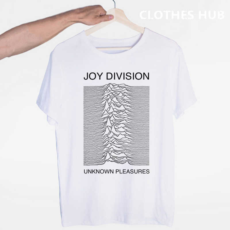 Joy Division Mannen Unknown Pleasures T-shirt Zomer Heren Tee, Comfortabele T-shirt Met Korte Mouwen Tee
