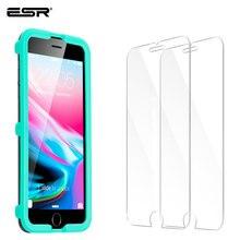 ESR Protector de pantalla de vidrio templado para iPhone, película protectora de pantalla para iPhone XR 11 X XS 11Pro XS Max 8/7/6s/6 Plus, 2 uds.