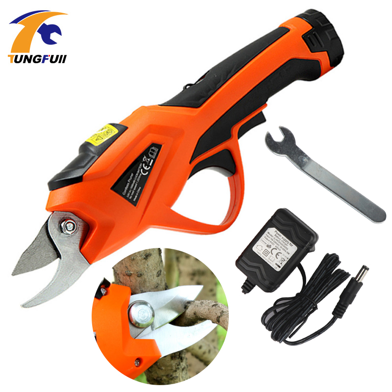 Electric Pruner 3.6V Li-ion Cordless Secateur Power Tools Pruning Shears Garden Pruning Tools Cutter Electric Fruit Pruning Tool