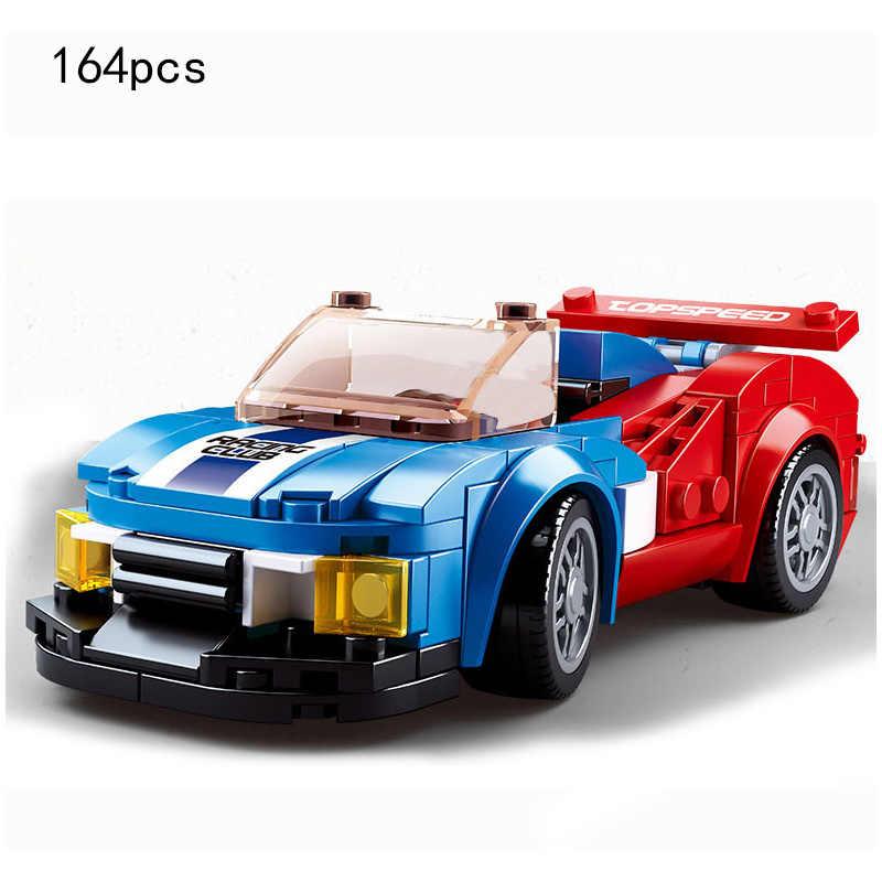 Kota Juara Kecepatan Mobil Sport Kompatibel Secara Terbuka Technic Balap Mobil Super Pembalap Angka Blok Bangunan Batu Bata Mainan Anak