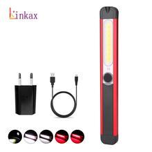 Powerful Work Light COB LED Flashlight Magnetic 5 Mode Work