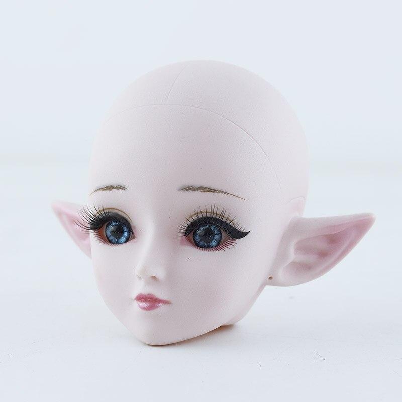 1/3 BJD Nude Puppe Körper Elf Machen Up Bjd Puppe Zubehör 24 Ball Gliederpuppe Blau/schwarz Augen 60cm DIY Kinder Spielzeug für Mädchen