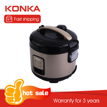 KONKA Home Electric Rice Cooker 1L Intelligent Automatic Household Kitchen Stainless Steel Mini Cooker Appliances For 1-2 Person