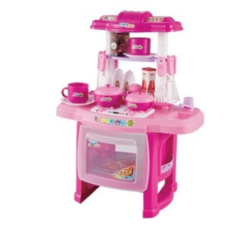 Simulation Kitchen Cooking Utensils Play House Children's Simulation Lighting Sound Kitchen Toy Set