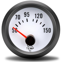 Medidor de temperatura de óleo 52mm  tacômetro automático 12v 50-150 grau celsius medidor de temperatura de óleo com sensor para motocicleta de carro