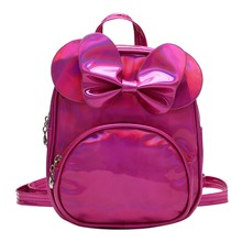 Aelicy Fashion Kid Bags Children #8217 s Fashion Solid Color Laser Bow Backpacks Backpacks Backpack Schoolbag For Girls cheap Softback zipper solid backpack women backpack women school backpacks for school teenagers girls schoolbags for school backpack for teens