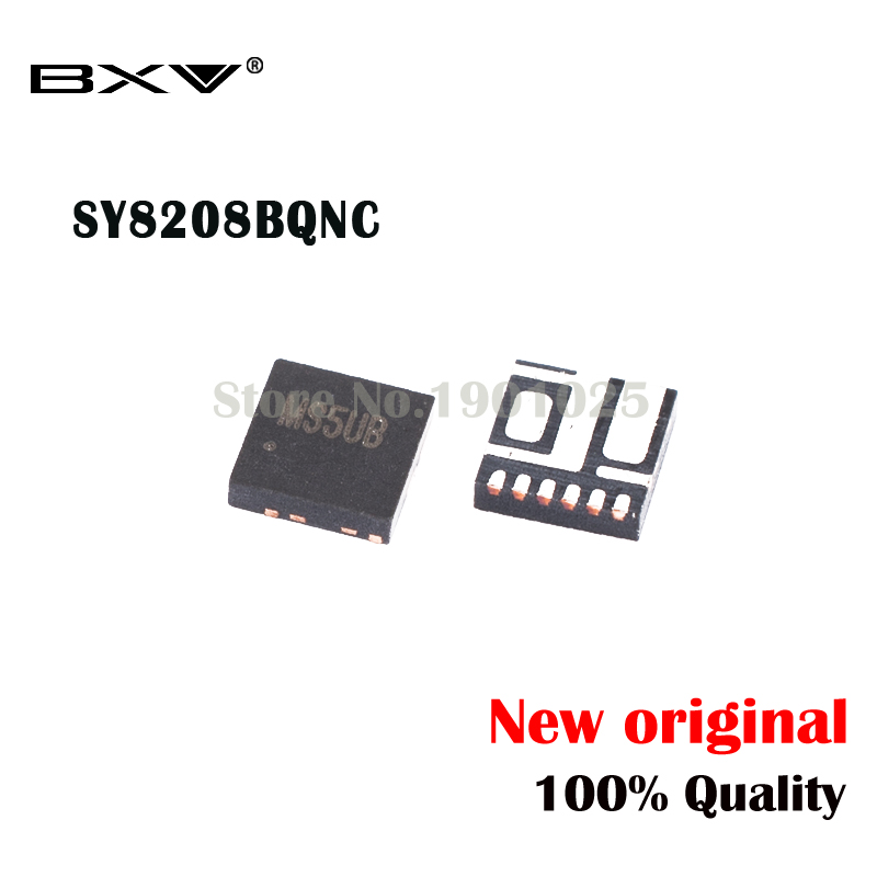 5pcs SY8208BQNC  SY8208B QFN-6 SY8208 (MS3VM MS4BB MS5BC...) New Original
