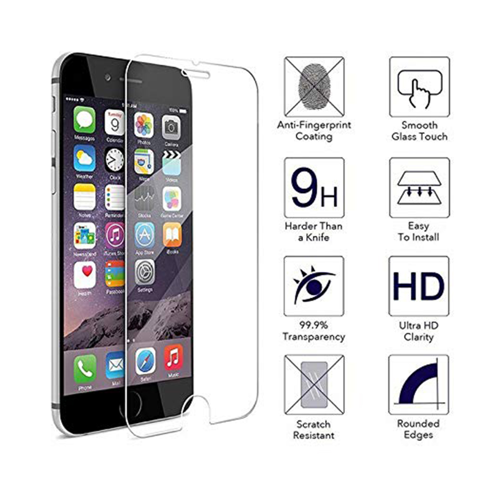 9H Tempered Glass Screen Protector Film For Iphone 7 8 6 6s Plus XS MAX XR X 4 4S 5 5S 5C SE ScreenProtecor Protection pantalla (1)