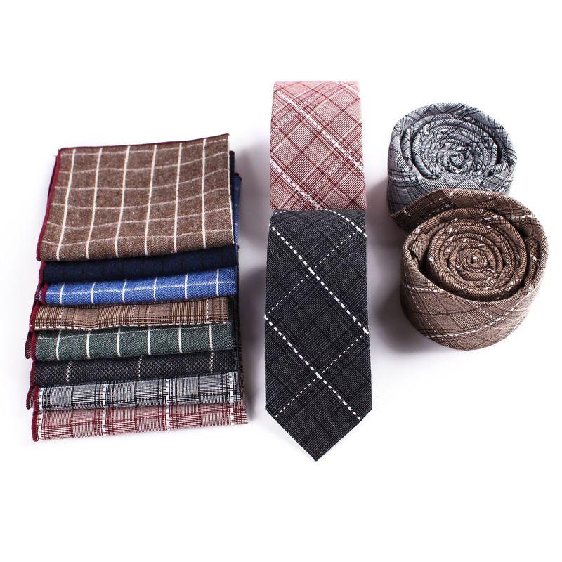 Men Printed Handkerchiefs Tie Set Fashion Wedding Casual Floral Slim 6cm Neckties Wedding Suits Pocket Square & Tie Necktie