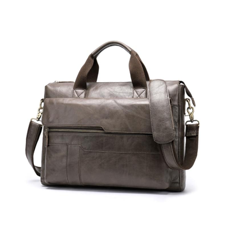 MAHEU Genuine Leather Daily Commuting Bag 15