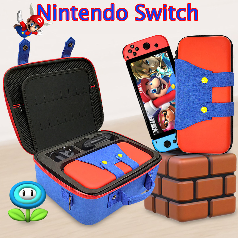 Nintend Switch Case Mario Nintendos Switch Nitendo Switch Accessories System Travel Hard Carrying Case Protective Hard Shell