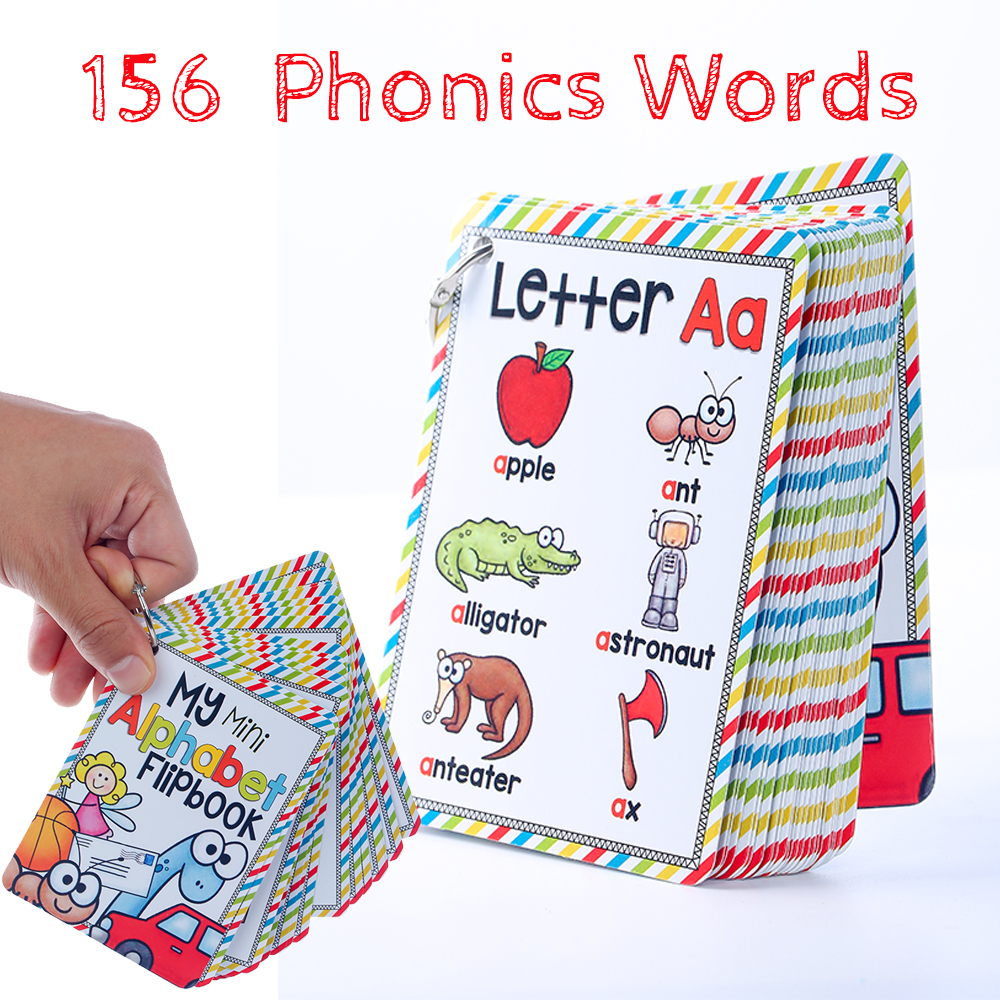 26 Letters English Phonics Pocket Cards Kids Montessori Learning English Word Card Flash Cards Educational Toys For Children