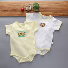 Summer Baby Clothes 2Pcs/Lots Unisex Newborn Boy&Girl Rompers Cotton Toddler Jumpsuits Short Sleeve Infant