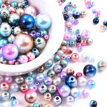 3mm-12mm Many Colors Round Pearls Sew On Beads With Holes ABS бусины Resin Imitation Pearl Craft Beads Jeweylry Making B3580