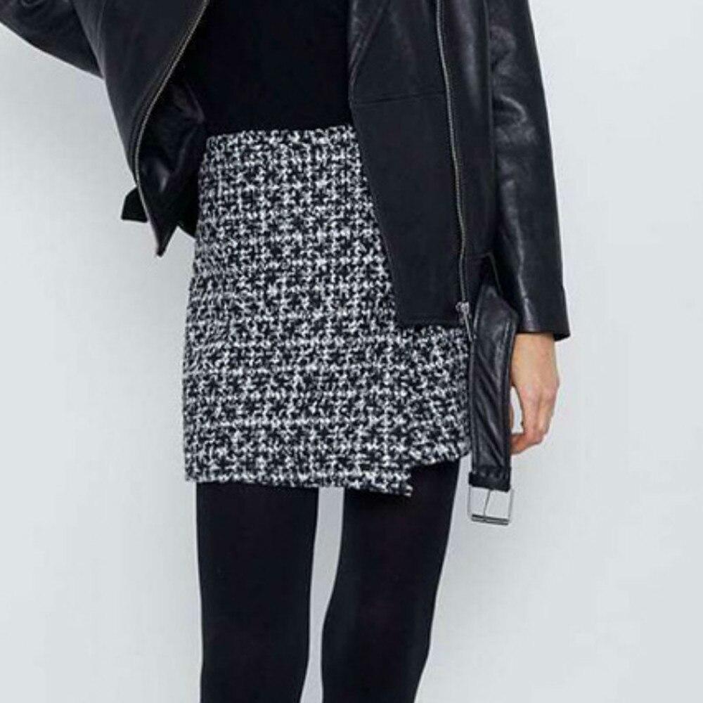 Женская короткая юбка комплект с вышивкой для девочек черный топ в клетку женская сексуальная юбка мини тартан юбка-брюки корейские