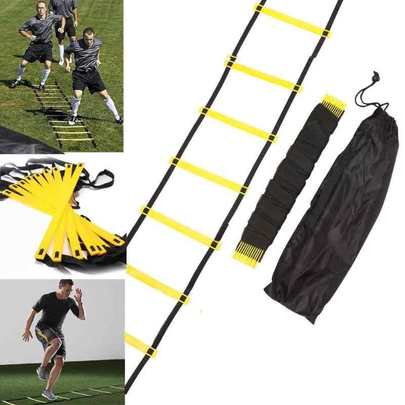 دائم 8 Rung 12 قدم 4 م خفة الحركة سلم لكرة القدم سرعة التدريب في الهواء الطلق رياضة كرة القدم التدريب سلم
