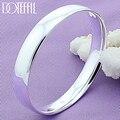 DOTEFFIL 925 Sterling Silber 10mm Glatten, Festen Armband Armreifen Für Frauen Männer Hochzeit Engagement Party Schmuck