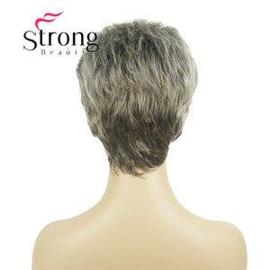 Image 5 - StrongBeauty короткий синтетический парик для волос, блондинка с серебряными парики для женщин