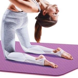 Image 2 - 6mm Yoga Mat 183*61cm No slip TPE Sports Gym Mat Fitness Esterilla Pilates Gymnastics Camping Colchonete Pad With Bag Bandage