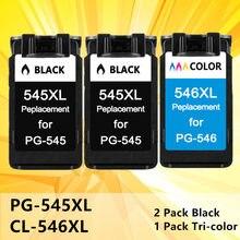 PG CL546 545XL 545 XL XL cartuchos de tinta para Canon pg 545 CL-546 PG545 PG-545 para Canon IP2850 MX495 MG2950 MG2550 Impressora