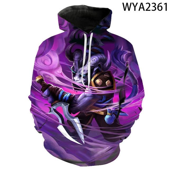 New Games Dota 2 Hoodies Fashion Men Women Children 3D Printed Streetwear Pullover Long Sleeve Boy Girl Kids Casual Sweatshirts 1