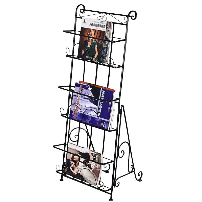 Magazine,newspaper Rack, Book Rack, Data Rack, Landing Iron Art Creative Publicity Display Shelf, Three-dimensional Bookshelf
