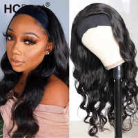 Brazilian Body Wave Human Hair Wig 150%perruques bresiliens cheveux humain Wig For Women 28inch Headband Wig Remy Human Hair Wig