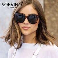 SORVINO 2020 Retro Oversize Occhio di Gatto Occhiali Da Sole Delle Donne di Lusso Del Progettista di Marca 90s Tartaruga Cateye Occhiali Da Sole Tonalità di SP107