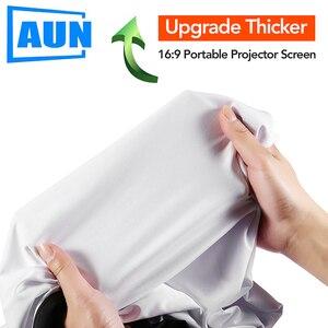Image 2 - AUN zagęścić ekran projektora 100/120/133 cal 16:9 składany przenośny biała tkanina materiał dla 4K Full HD kina domowego