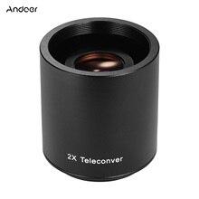 Andoer 2X Teleconverter Lens Manual Focus Converter Lens for 650 1300mm 500mm 420 800mm Camera T mount Lenses Lens