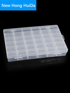 Container Plastic Box Practical Adjustable Compartment Jewelry Earring Bead Screw Holder Case Display case strage box