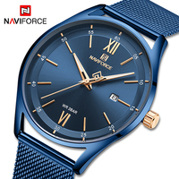 NAVIFORCE Luxury Lover's Watches For Men and Women Casual Waterproof Quartz Clock Male Blue Couple Wristwatch Relogios Masculino