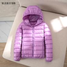 Winter Newest Light Warm 90% White Duck Down Jacket Women Ca