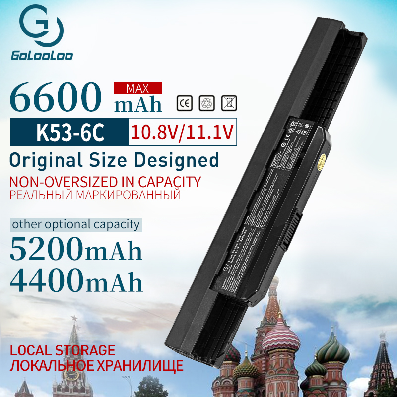 Golooloo 11.1v  A32-k53 Laptop Battery For ASUS  A32 K53 K53SV K53 K53B K53BY K53E K53F K53J K53S K53SD K53SJ  X54h K53t