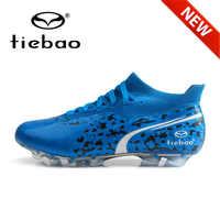 2020 Neue TIEBAO Fußball Stiefel Lange Stollen AG Fußball Schuhe Berufs Ausbildung Fußball Schuhe Ankle Socken Futbol Turnschuhe Männer
