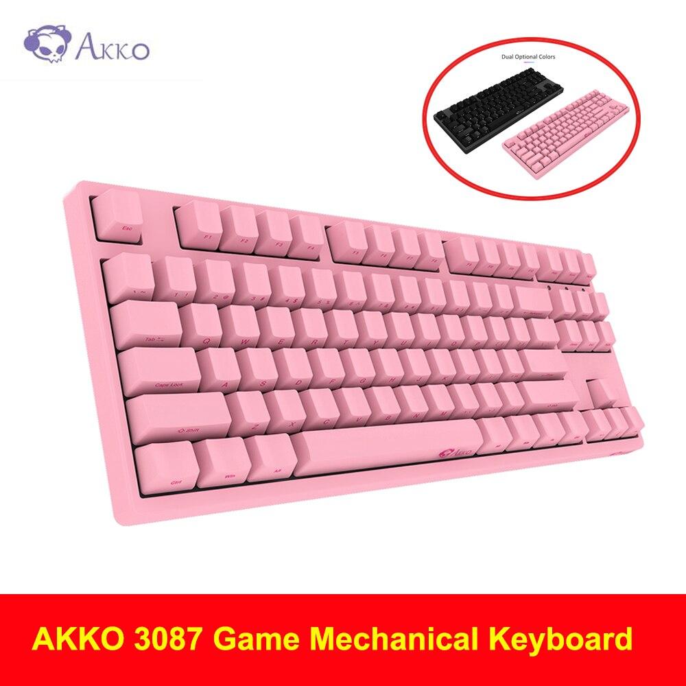 AKKO 3087 jeu clavier mécanique commutateur cerise PBT porte-clés lettrage latéral type-c filaire PBT clavier mécanique de jeu