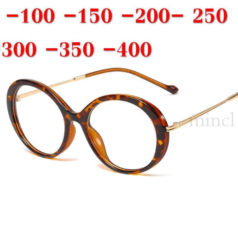 Круглые близорукие очки женские роскошные брендовые компьютерные очки оправы для мужчин прозрачные очки для близорукости-1,5-2,0 с коробкой NX