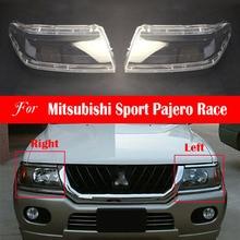 Lente faro per Mitsubishi Sport Pajero Race copertura faro sostituzione anteriore Auto luce Auto Shell paralume trasparente