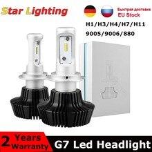50W 8000LM G7 LED far oto kiti H4/H1/H7/9005/9006/H8 H9 h11 H10 HB3 HB4 süper beyaz yüksek/düşük çift ışın