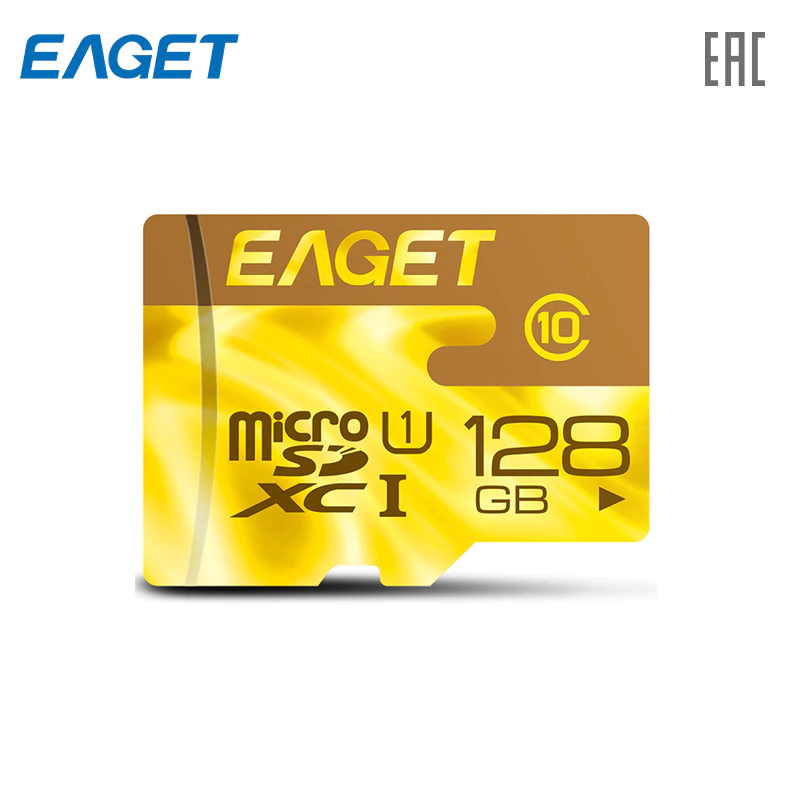 Карта памяти EAGET F2-128 MicroSDHC карточка памяти 128 ГБ TF(MircoSD)[ доставка из России]
