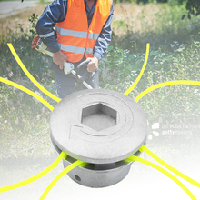 Grass-Trimmer-Head Brush-Cutter Lawn-Mower Universal Aluminum with 4-Lines Head-Thread
